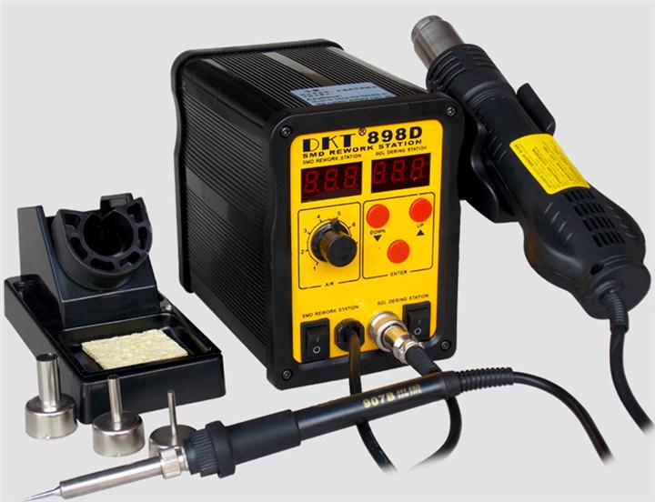 无铅二合一调温电焊台双数显热风枪烙铁拆焊台